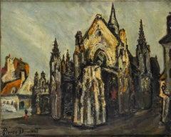 """Pierre Dumont """"Cathedral"""" 1910-1919 Oil on Canvas Fauvisme École de Rouen"""