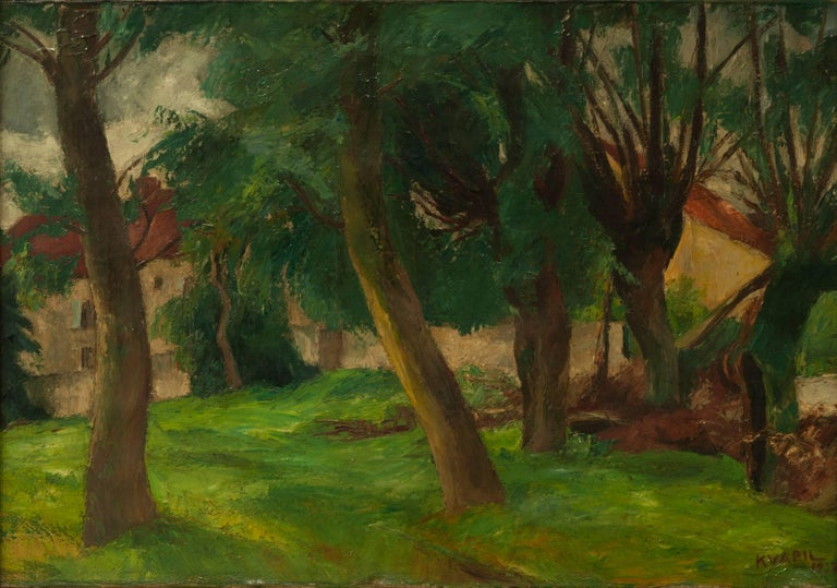 Charles Kvapil 'Undergrowth' 1927 Oil on Canvas Fauvism Belgium Landscape Modern