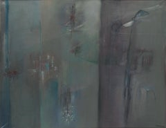 'Menton's Weather' 1958 Oil on Canvas by Guido Strazza Abstract Informal Italian