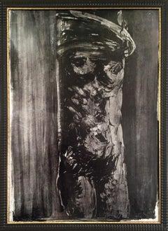 'Nude' 60's Litograph by Vittorio Tavernari Limited Edition Black and White