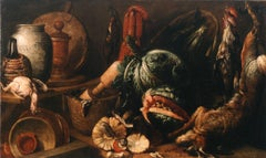 Italian Old Master Felice Boselli 'Still Life' Circa 1690 Oil Paint on Canvas