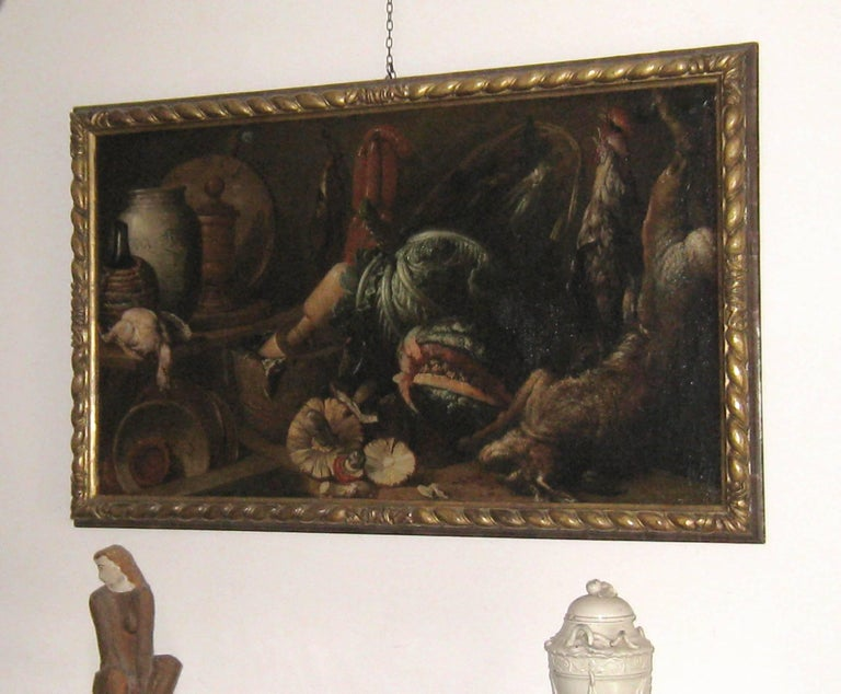 Italian Old Master Felice Boselli 'Still Life' Circa 1690 Oil Paint on Canvas For Sale 10