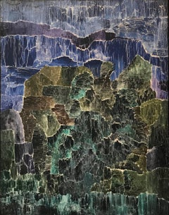 """Siegfried Laske """"Aluvion"""" 1971, Oil and Mixed Media on Canvas Peruvian Abstract"""