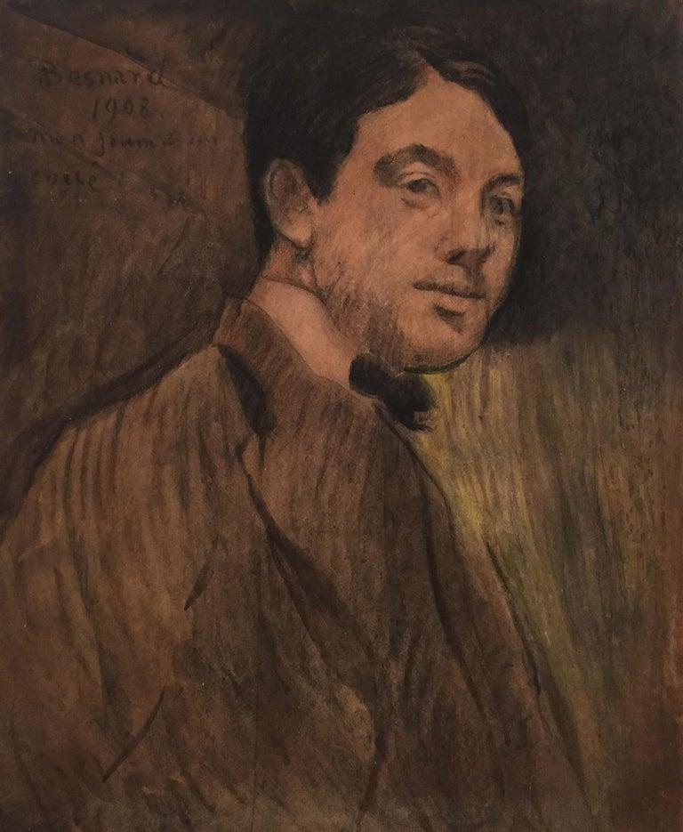 Albert Besnard 'Portrait' 1908 Pastel on Cardboard Impressionist Modern Art