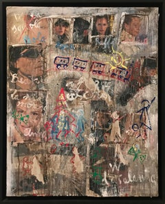 'Our Girlfriends' 2007, Oil Mixed Media on Canvas Graffiti Expressionism