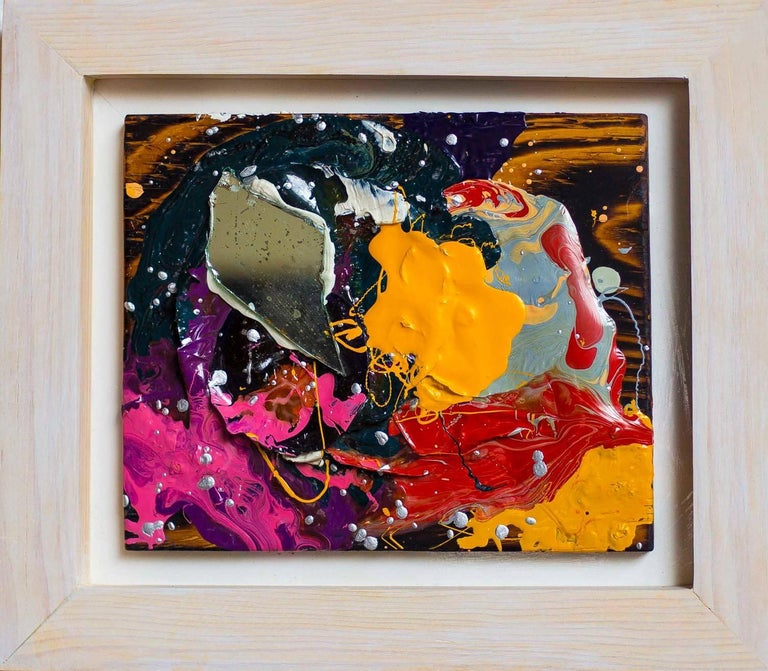 Ray Smith Abstract Painting - Serie: Abstractos con espejo 8