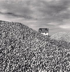 Pebbles and Beach House, Cayeux-Sur-Mer, Picardie, France, 2009 - Michael Kenna