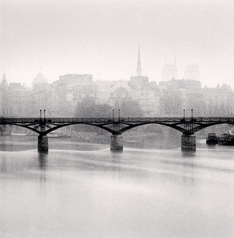 Michael Kenna Landscape Photograph - Pont Des Arts, Study 3, Paris, France, 1987