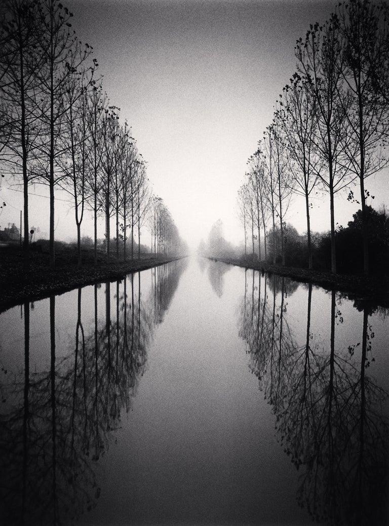 Michael Kenna Landscape Photograph - French Canal, Study 2, Loir-Et-Cher, France, 1993