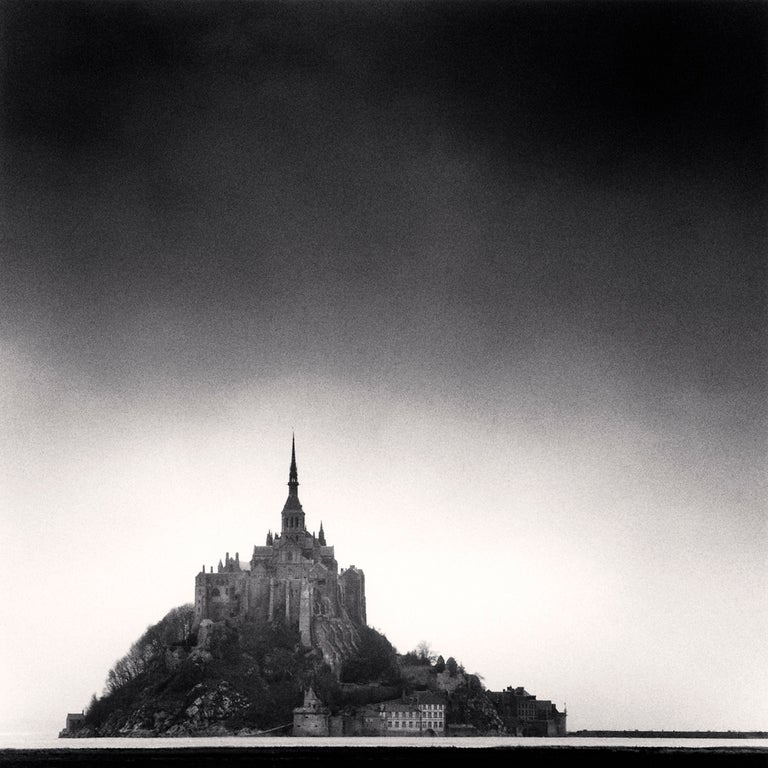 Michael Kenna Black and White Photograph - Mont St Michel, Normandy, France, 1991