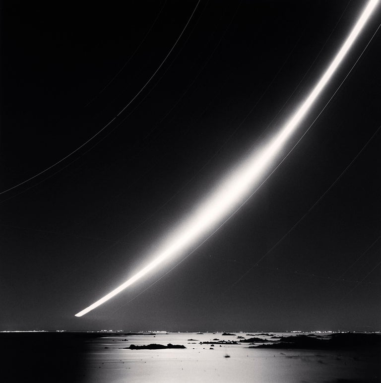 Michael Kenna Black and White Photograph - Full Moonrise, Chausey Islands, France, 2007