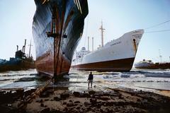 Ship Breaking Yard, Karachi, Pakistan, 1985