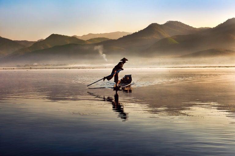 Steve McCurry Color Photograph - Intha Fisherman, Burma, 2011