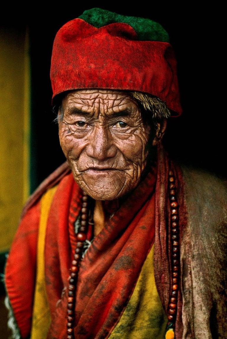 Steve McCurry Color Photograph - Monk at Jokhang Temple, Lhasa, Tibet, 2000 - Portrait Photography