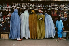 Afghan Women at Shoe Store, Kabul, Afghanistan, 1992