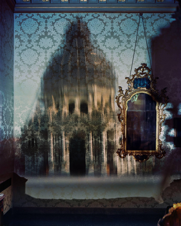 Blurry Upright Camera Obscura: Santa Maria Della Salute with Scaffolding