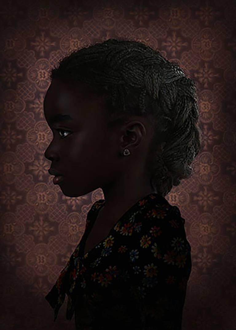 Mood #4 - Ruud van Empel (Colour Photography) - Black Portrait Photograph by Ruud van Empel