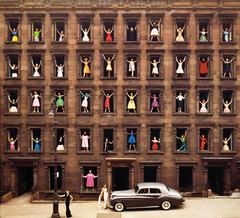 Girls in Windows, New York, 1960