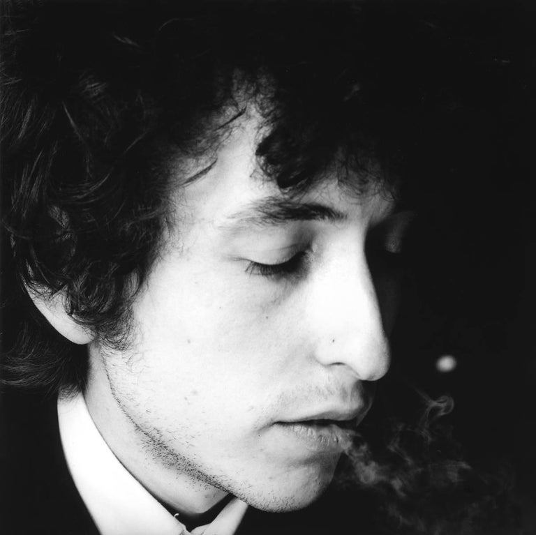 Bob Dylan, Contact 80, 1965 - Jerry Schatzberg (Portrait Photography) Signed on reverse Silver Gelatin Print Printed on 20 x 24 inch paper From an Edition of 20  Jerry Schatzberg's portraits are characterised by their narrative quality, combining