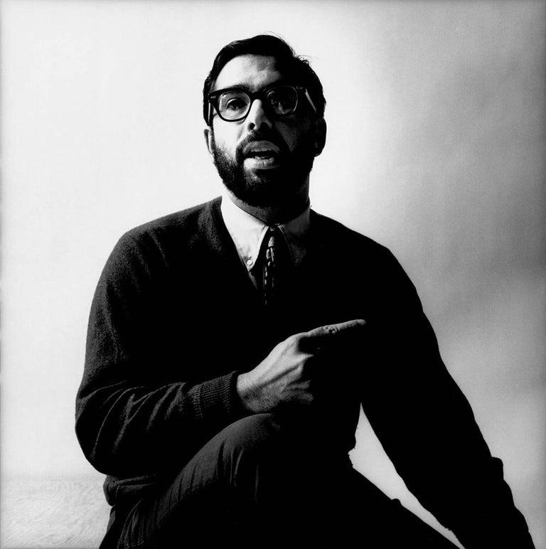 Francis Ford Coppola, 1966 - Jerry Schatzberg (Portrait Photography) - Gray Black and White Photograph by Jerry Schatzberg