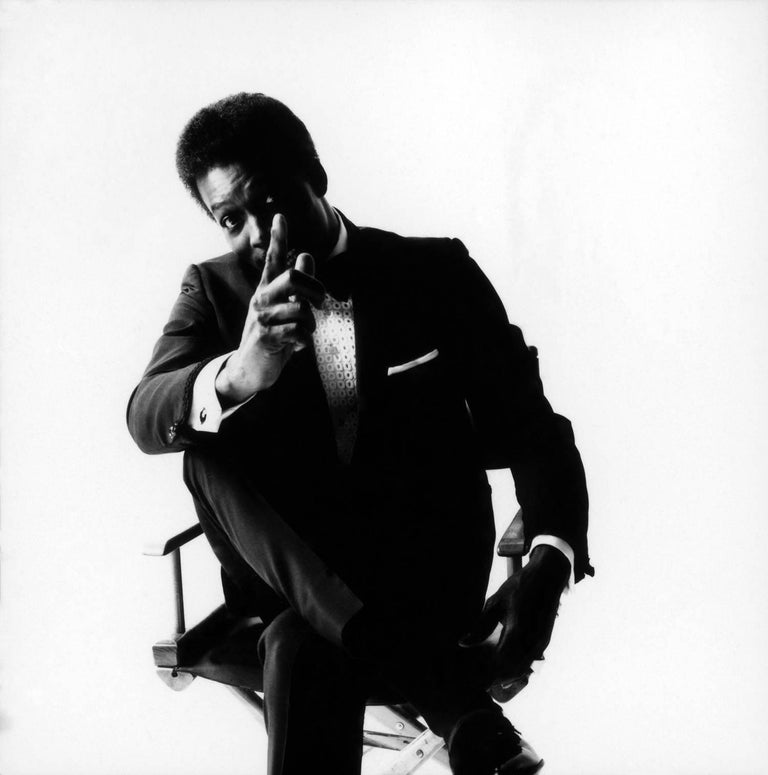 Wilson Pickett, 1967 - Jerry Schatzberg (Portrait Photography) Signed on reverse Silver Gelatin Print Printed on 20 x 24 inch paper From an Edition of 20  Jerry Schatzberg's portraits are characterised by their narrative quality, combining emotion