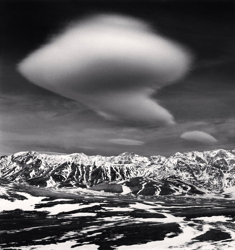 Michael Kenna Black and White Photograph - Curious Cloud, Campo Imperatore, Abruzzo, Italy, 2016