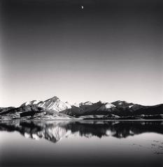 Gibbous Moon, Lake Campotosto, Abruzzo, Italy, 2016