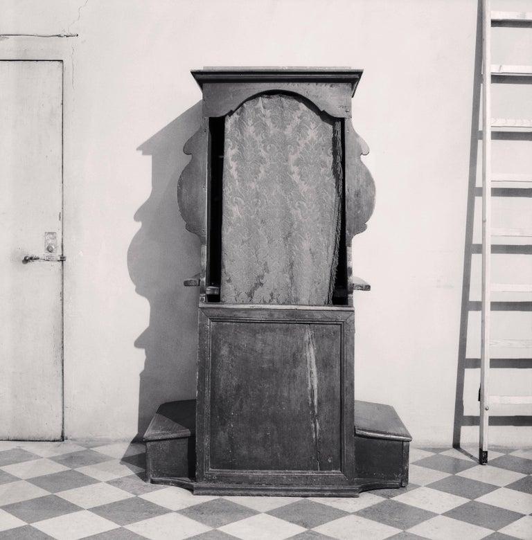 Michael Kenna Black and White Photograph - Confessional Study 22, Chiesa di san Giovanni Evangelista