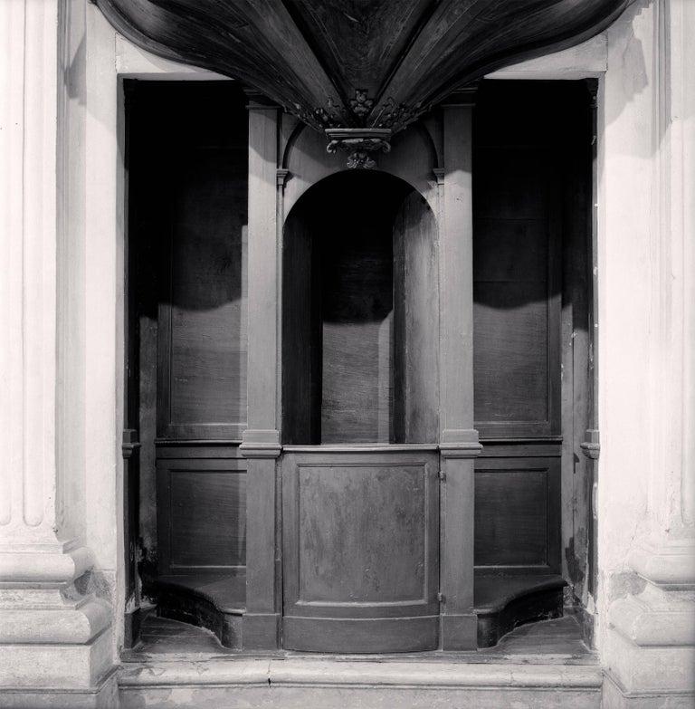 Michael Kenna Black and White Photograph - Confessional, Study 30, Chiesa di San Giorgio, Reggio Emilia