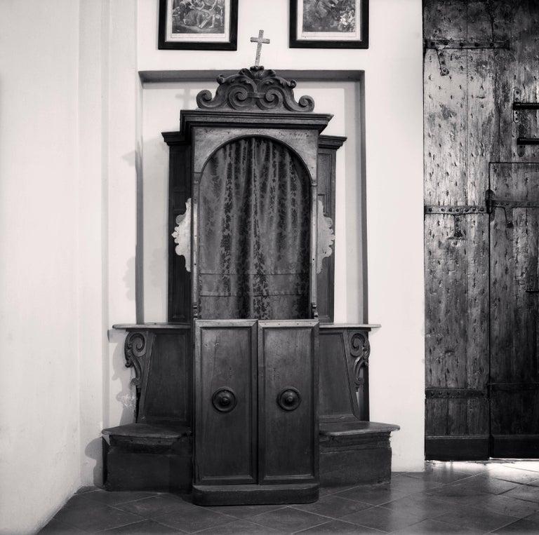 Michael Kenna Black and White Photograph - Confessional, Study 9, Chiesa di San Matteo Apostolo, Rossena, Reggio Emilia
