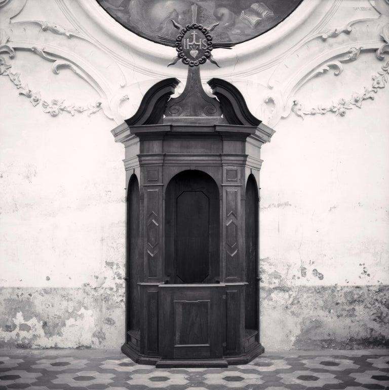 Michael Kenna Black and White Photograph - Confessional, Study 3, Chiesa di Sant'Andrea, Gualtieri, Reggio Emilia