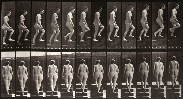 Animal Locomotion: Plate 92 (Nude Woman Ascending Staircase), 1887