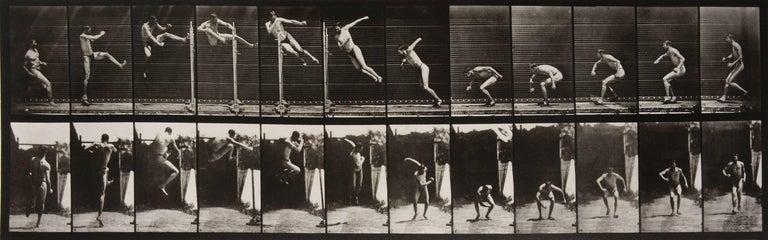 Eadweard Muybridge Black and White Photograph - Animal Locomotion: Plate 158 (Man Performing a High Jump), 1887