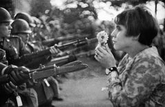 Marc Riboud - Confrontation between a Flower and Bayonets of Soldiers Guarding the Pentagon