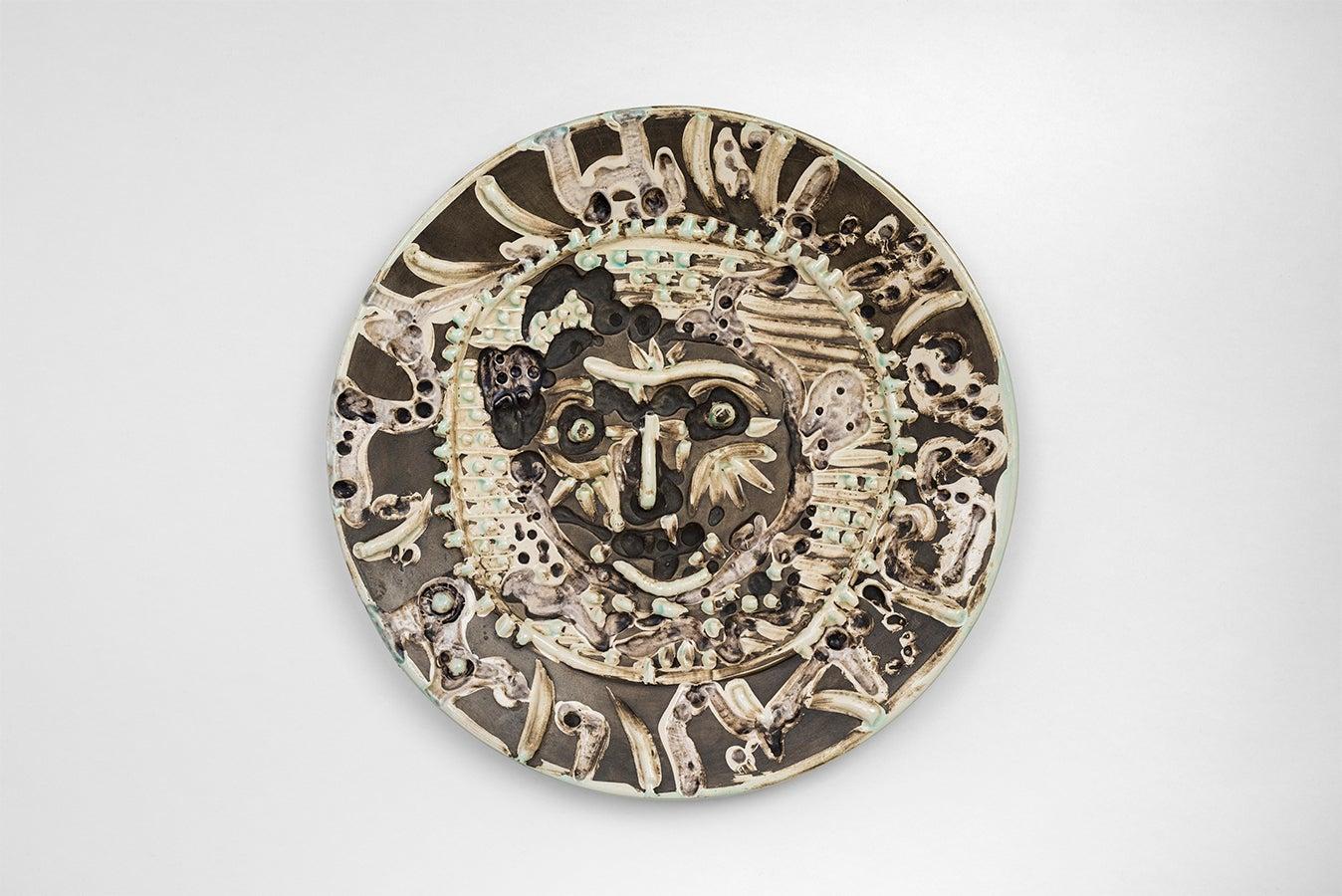 Pablo Picasso Madoura Ceramic: Tormented Faun's Face (Visage de Faune Tourmenté)
