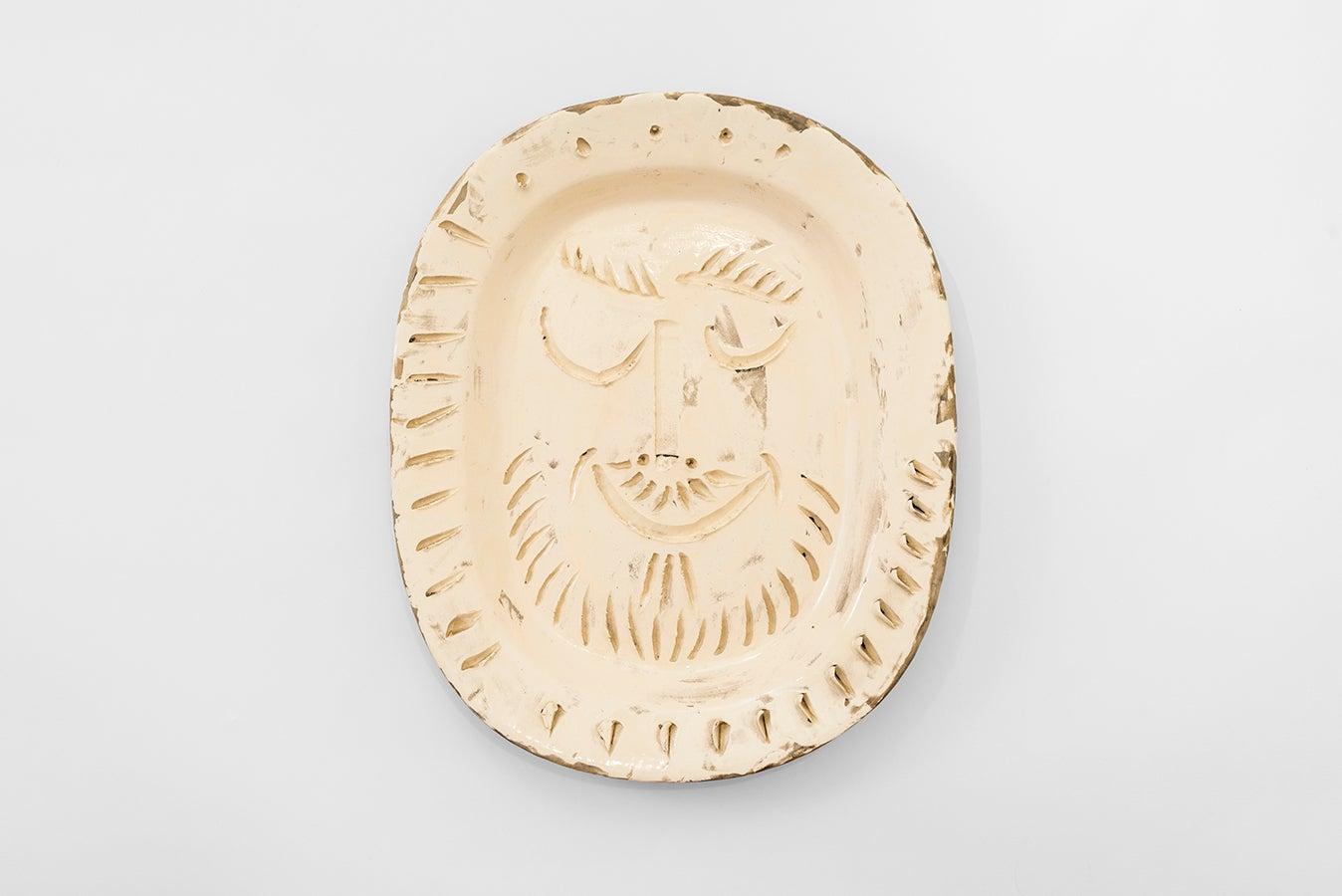Pablo Picasso - Madoura Ceramic: Man's Face (Visage d'homme)