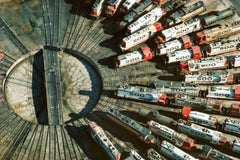 Railroad Turntable, Minneapolis, MN, 1985 - Color Photography, Contemporary
