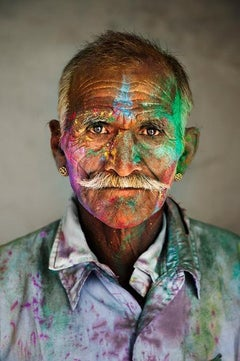 Man Covered in Powder, Rajasthan, India, 2009 - Portrait Photography