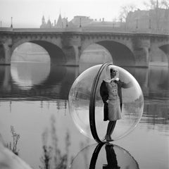On the Seine - Melvin Sokolsky (Black and White Photography)