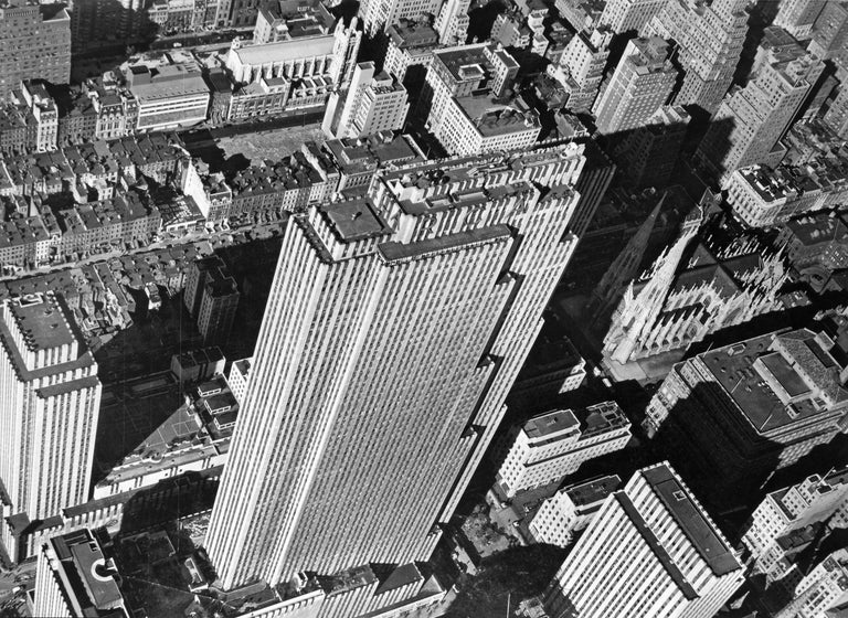 Margaret Bourke-White Black and White Photograph - Aerial View of the Rockefeller Center, 1939