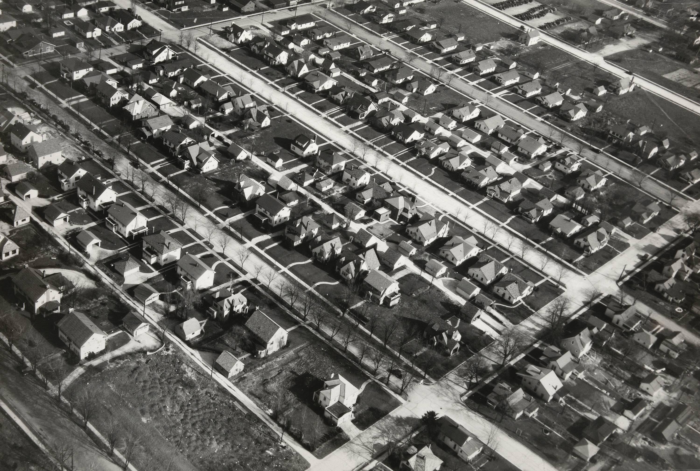 Aerial View of Single Family Houses, Muncie, In