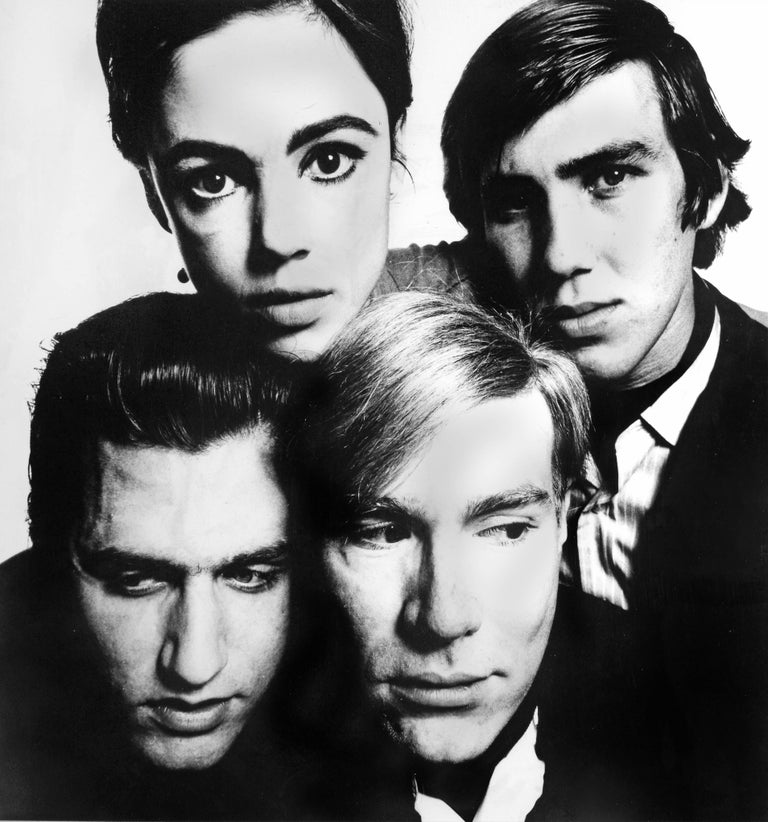 Andy Warhol and the Gang, 1965 - David Bailey (Portrait Photography) Signed, inscribed with title and stamped with photographer's copyright ink stamps on reverse Silver gelatin print, print c. 1969 15 1/2 x 10 inches  David Bailey (born 1938) is one