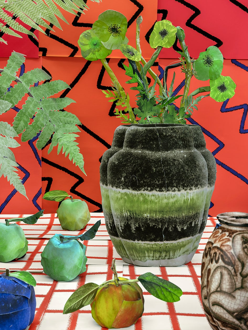 Green Poppies and Zig Zags, 2020 - Daniel Gordon