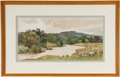 Cedric Kennedy - Signed & Exhibited 1934 British Watercolour, River and Stile