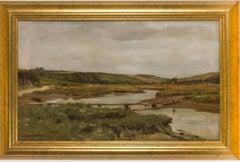 Arthur Wilde Parsons (1854-1931) - Signed 1913 British Oil, Gannel River Newquay