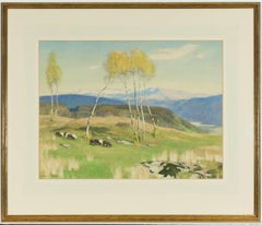 Adrian Scott Stokes RA (1854-1935) - Signed English Watercolour, Sheep Grazing