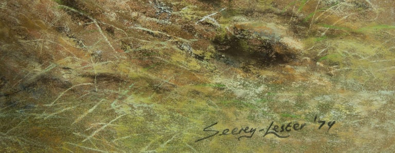 John Seerey-Lester (b.1945) - Signed & Framed British 1979 Pastel, Lions - Realist Art by John Seerey-Lester