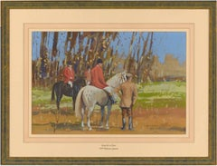 William Norman Gaunt (1918-2001) - Signed English Gouache, Hunting Party