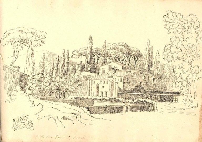 Harriet Cheney (1771-1848) - Georgian Album of Landscapes and Classical Studies - Renaissance Art by Harriet Cheney