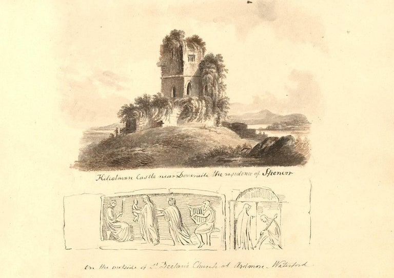 Harriet Cheney (1771-1848) - Georgian Album of Landscapes and Classical Studies For Sale 1